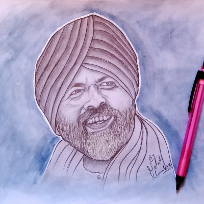 Sketch of Baba Hardev Singh Ji