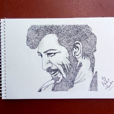 Sketch of Gabbar Singh